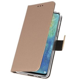 Wallet Cases Hoesje voor Huawei Mate 20 X Goud