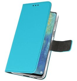 Wallet Cases Case for Huawei Mate 20 X Blue