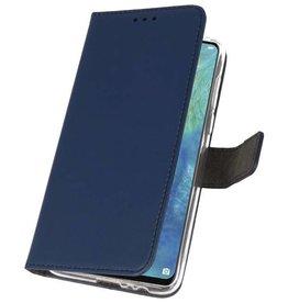 Brieftasche Tasche für Huawei Mate 20 X Navy