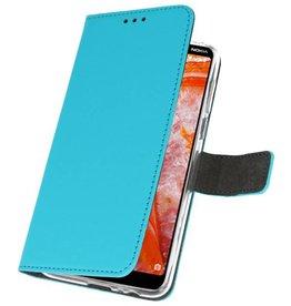 Wallet Cases Case for Nokia 3.1 Plus Blue