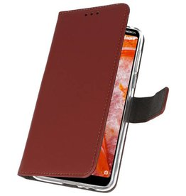 Wallet Cases Case for Nokia 3.1 Plus Brown
