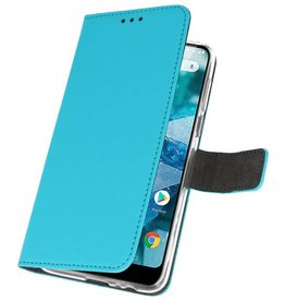 Wallet Cases for Nokia 7.1 Blue