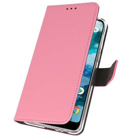 Wallet Cases Case for Nokia 7.1 Pink