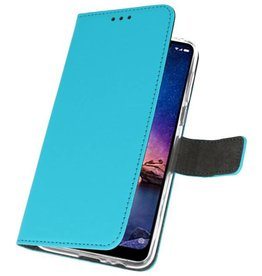 Wallet Cases Case for XiaoMi Redmi Note 6 Pro Blue