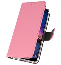 Wallet Cases Case for XiaoMi Redmi Note 6 Pro Pink