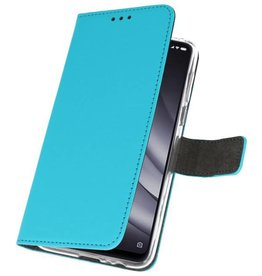Wallet Cases Hoesje voor XiaoMi Mi 8 Lite Blauw