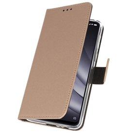Wallet Cases Hoesje voor XiaoMi Mi 8 Lite Goud