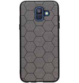 Hexagon Hard Case for Samsung Galaxy A6 2018 Gray