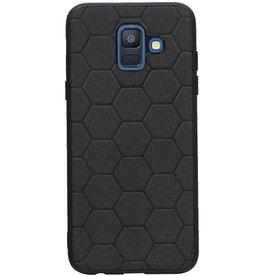 Hexagon Hard Case für Samsung Galaxy A6 2018 Schwarz