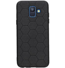 Hexagon Hard Case voor Samsung Galaxy A6 2018 Zwart