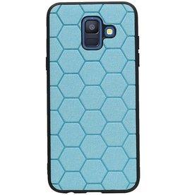 Hexagon Hard Case für Samsung Galaxy A6 2018 Blau
