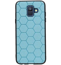Hexagon Hard Case voor Samsung Galaxy A6 2018 Blauw