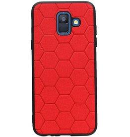 Hexagon Hard Case für Samsung Galaxy A6 2018 Rot