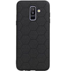 Hexagon Hard Case für Samsung Galaxy A6 Plus 2018 Schwarz