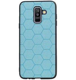 Hexagon Hard Case for Samsung Galaxy A6 Plus 2018 Blue