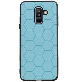 Hexagon Hard Case für Samsung Galaxy A6 Plus 2018 Blau