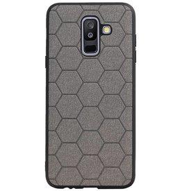 Hexagon Hard Case für Samsung Galaxy A6 Plus 2018 Grau