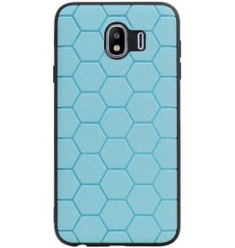 Hexagon Hard Case für Samsung Galaxy J4 Blue