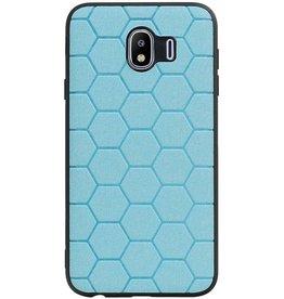 Hexagon Hard Case voor Samsung Galaxy J4 Blauw