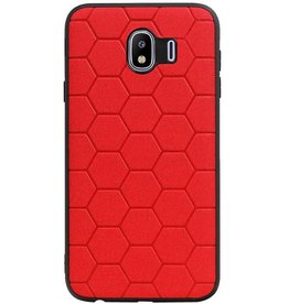 Hexagon Hard Case für Samsung Galaxy J4 Rot