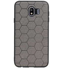 Hexagon Hard Case für Samsung Galaxy J4 Grau