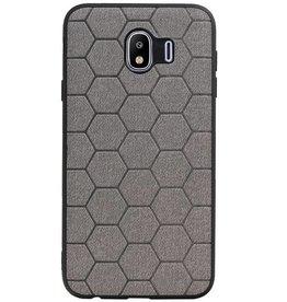 Hexagon Hard Case voor Samsung Galaxy J4 Grijs