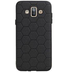 Hexagon Hard Case for Samsung Galaxy J7 Duo Black