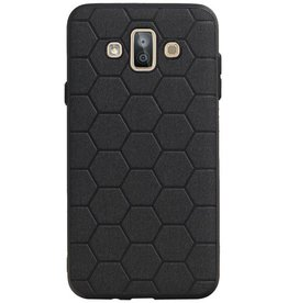 Hexagon Hard Case voor Samsung Galaxy J7 Duo Zwart