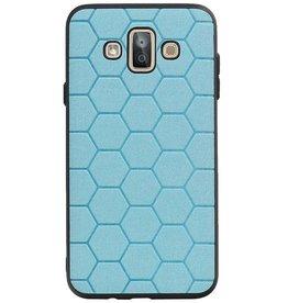 Hexagon Hard Case for Samsung Galaxy J7 Duo Blue