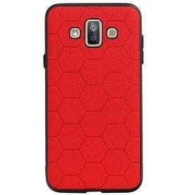Hexagon Hard Case für Samsung Galaxy J7 Duo Red