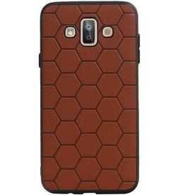 Hexagon Hard Case für Samsung Galaxy J7 Duo Brown