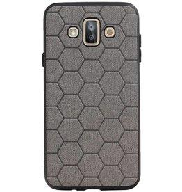 Hexagon Hard Case for Samsung Galaxy J7 Duo Gray