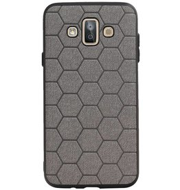 Hexagon Hard Case voor Samsung Galaxy J7 Duo Grijs