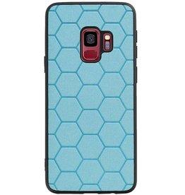 Hexagon Hard Case voor Samsung Galaxy S9 Blauw