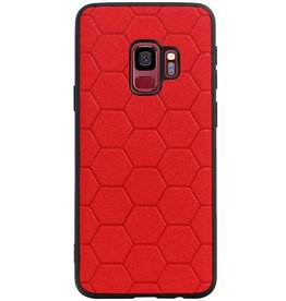 Hexagon Hard Case for Samsung Galaxy S9 Red