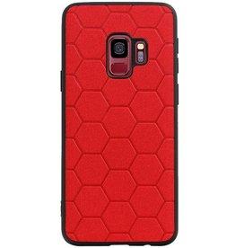 Hexagon Hard Case für Samsung Galaxy S9 Rot