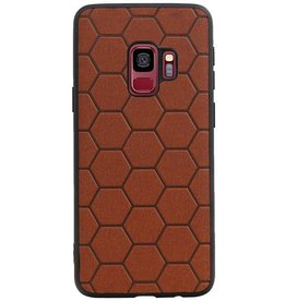 Hexagon Hard Case for Samsung Galaxy S9 Brown