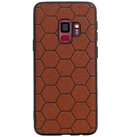 Hexagon Hard Case voor Samsung Galaxy S9 Bruin