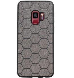 Hexagon Hard Case voor Samsung Galaxy S9 Grijs