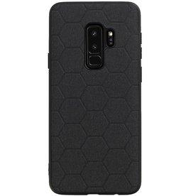 Hexagon Hard Case für Samsung Galaxy S9 Plus Schwarz