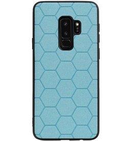 Hexagon Hard Case für Samsung Galaxy S9 Plus Blau
