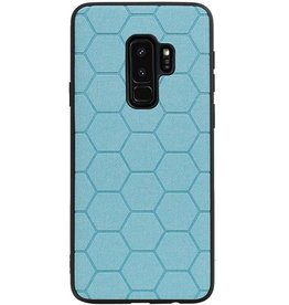 Hexagon Hard Case voor Samsung Galaxy S9 Plus Blauw