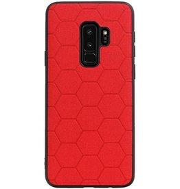 Hexagon Hard Case für Samsung Galaxy S9 Plus Rot