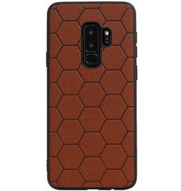 Hexagon Hard Case für Samsung Galaxy S9 Plus Braun