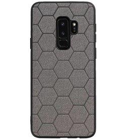 Hexagon Hard Case für Samsung Galaxy S9 Plus Grau