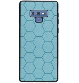 Hexagon Hard Case for Samsung Galaxy Note 9 Blue