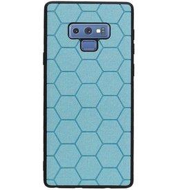 Hexagon Hard Case für Samsung Galaxy Note 9 Blau