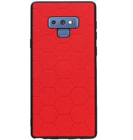 Hexagon Hard Case for Samsung Galaxy Note 9 Red