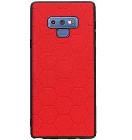 Hexagon Hard Case voor Samsung Galaxy Note 9 Rood
