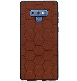 Hexagon Hard Case for Samsung Galaxy Note 9 Brown